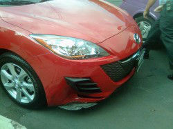 Mazda 3 chocado