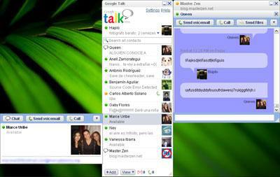 Google Talk y MSN Messenger